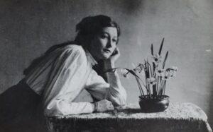 woman in white dress shirt