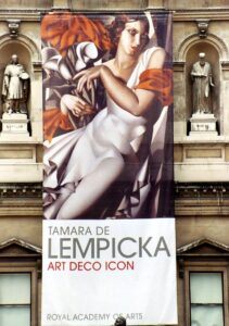Poster of a Tamara de Lempicka Exhibition in 2004, in West End, London,